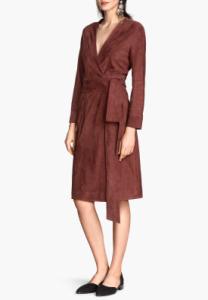 H&M suède jurk